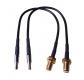 LTE Doppel-Pigtail SMA-Einbau-Buchse / 20cm Kabel / CRC-9 Stecker